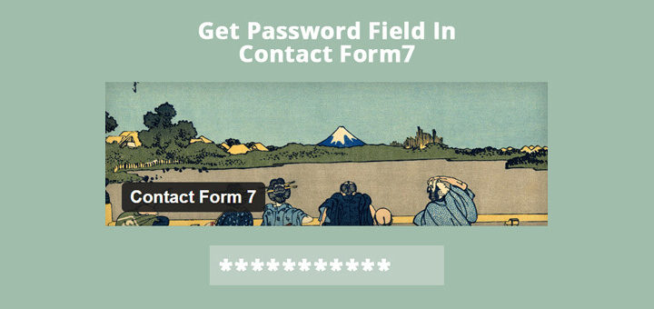 How To Get Password Fields In Contact Form 7