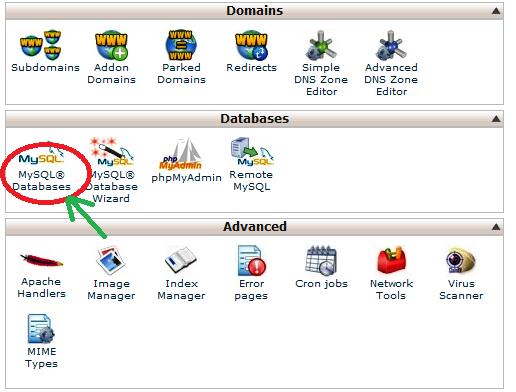 create MySQL database and user in WordPress