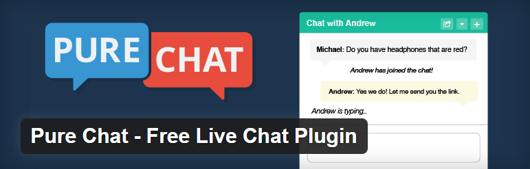 pure chat - free live chat support wordpress plugin