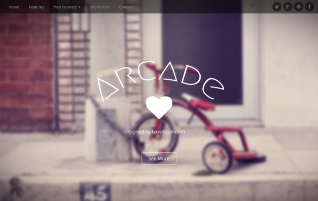 arcade - free wordpress theme of 2014