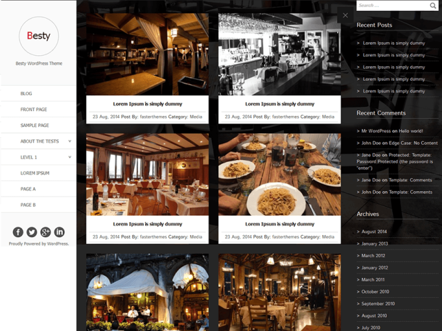 besty - free wordpress theme of 2014