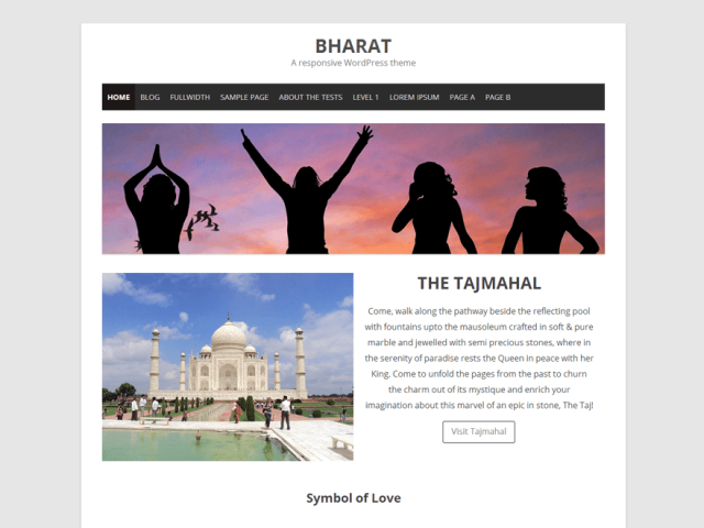 bharat - free wordpress theme of 2014