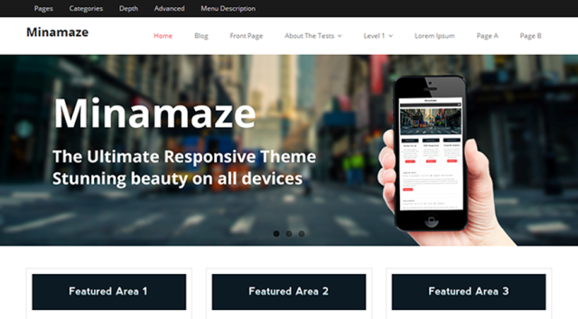 minamaze - free wordpress theme of 2014