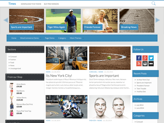 time - free wordpress theme of 2014