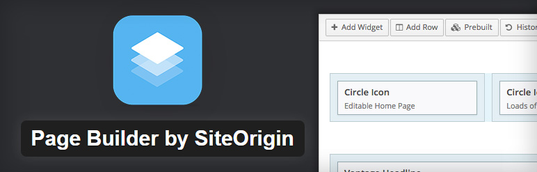 Page Builder by SiteOrigin free page builder plugin
