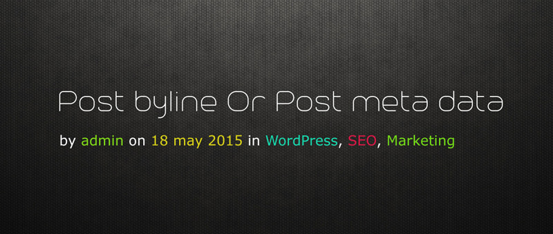 post byline or post meta data with link