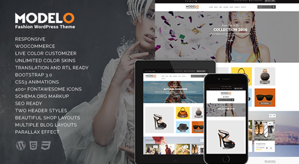 fashion and model agency woocommerce WordPress theme