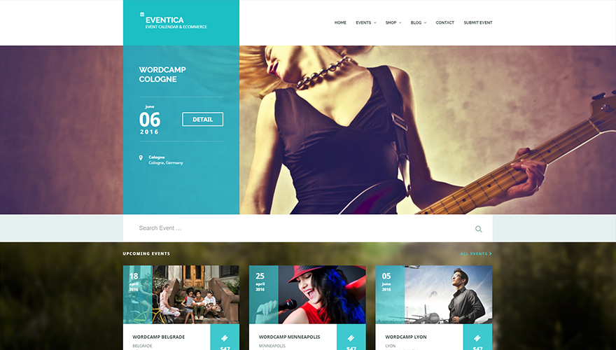 Eventica WordPress themes for conferences and events Event Calendar