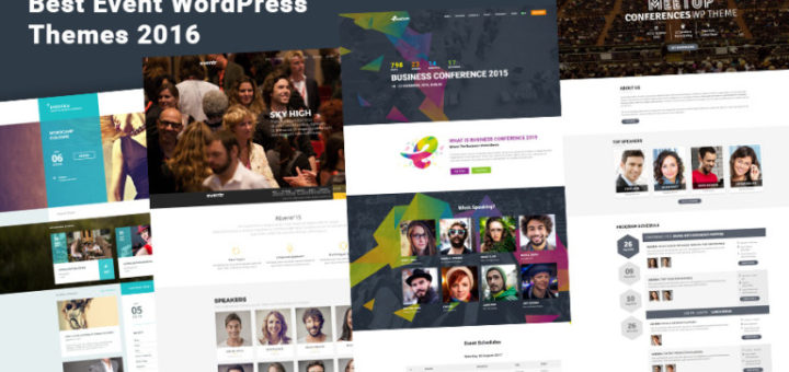 7+ Creative WordPress Themes For Conferences and Events 2016