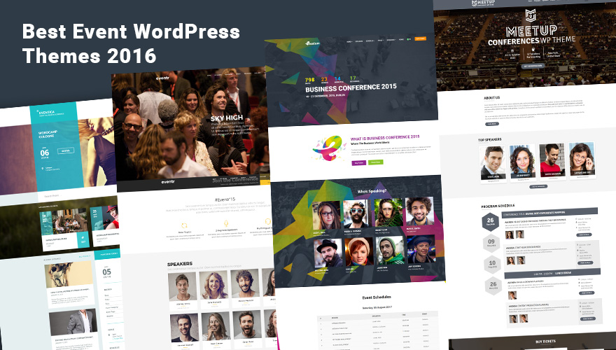 7 creative wordpress themes for conferences and events 2016