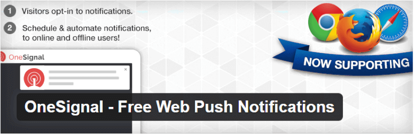 OneSignal wordpress push notification plugin