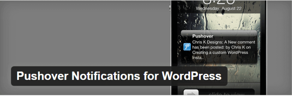 PushOver WordPress Push Notification Plugins