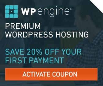 WPEngine Save 20% off.