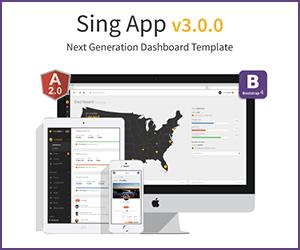 Sing Bootstrap Angular js HTML Template