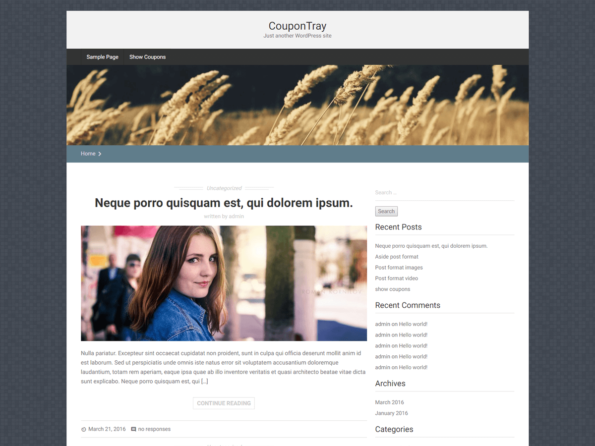 Coupontray WordPress theme