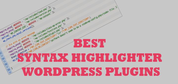 5 Best Syntax Highlighter WordPress Plugins