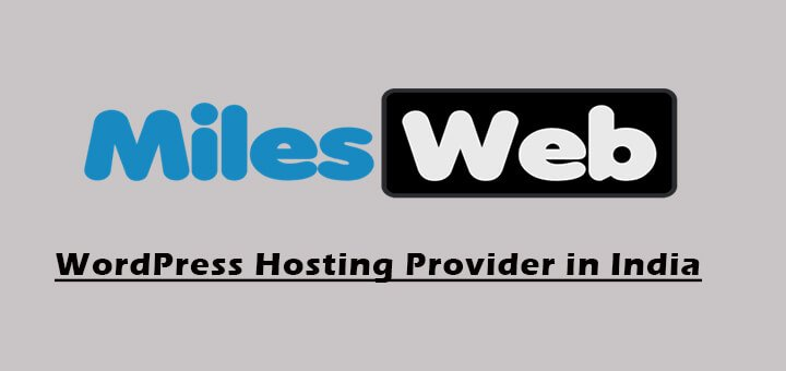 Best WordPress Hosting Provider in India- MilesWeb Review