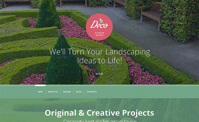 Exterior Design WordPress Theme