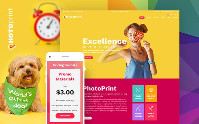 print shop responsive WordPress theme