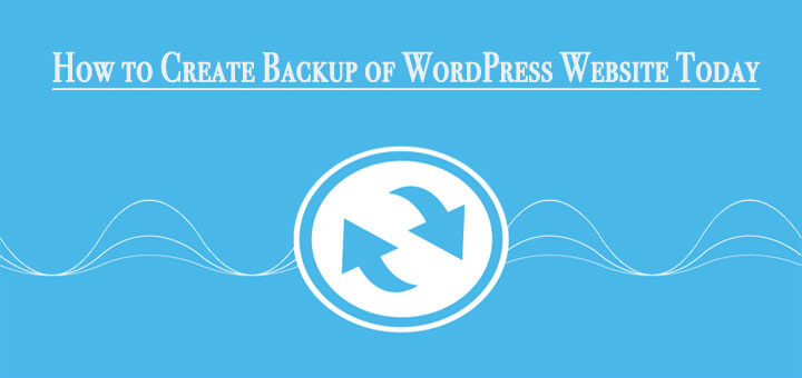 Backup of WordPress website
