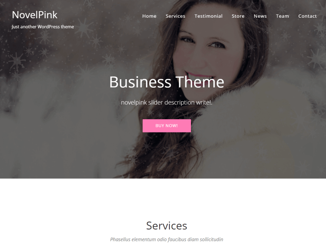 NovelPink WordPress theme