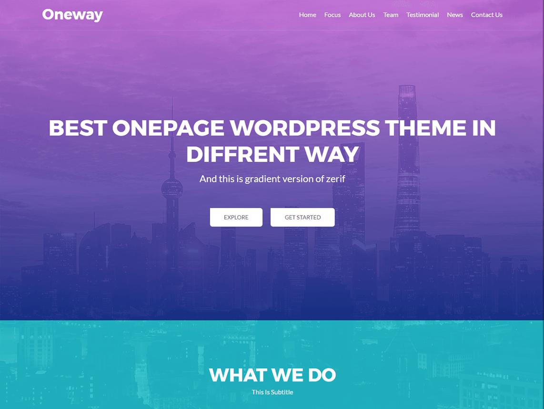 Oneway WordPress theme
