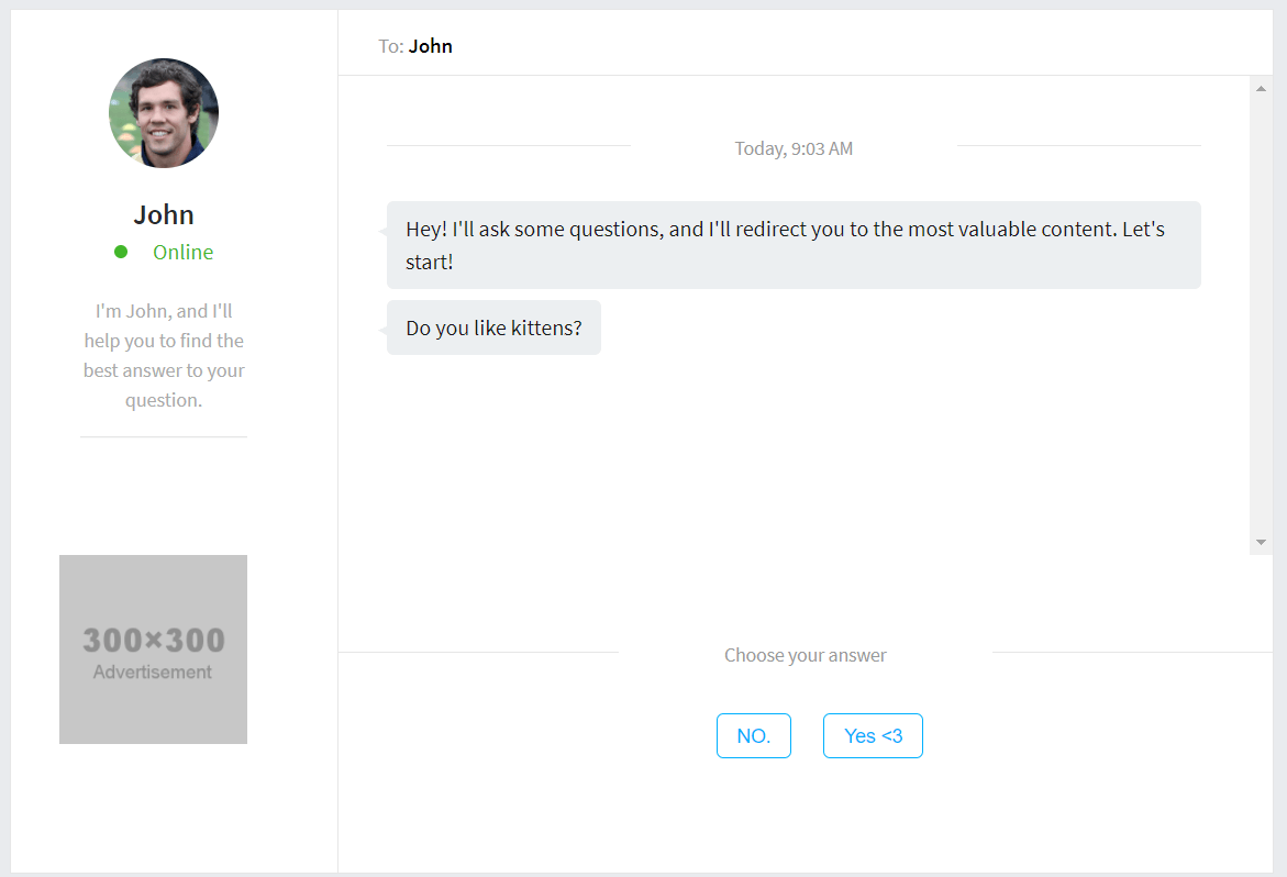 WP Chatbot plugin demo
